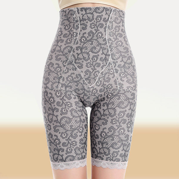 Plus Size Seamless Belly Control Boyshorts Jacquard High Waist Shapewear For Women