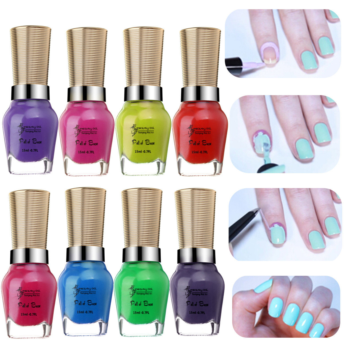 Skin Protected Nail Art Peel Off Polish Anti-overflow Separating Lubricating Grease Finger Tape