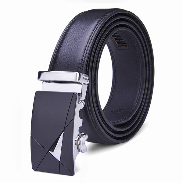 Men's Genuine Leather Peritoneal Second Layer Automatic Alloy Buckle Business Belts