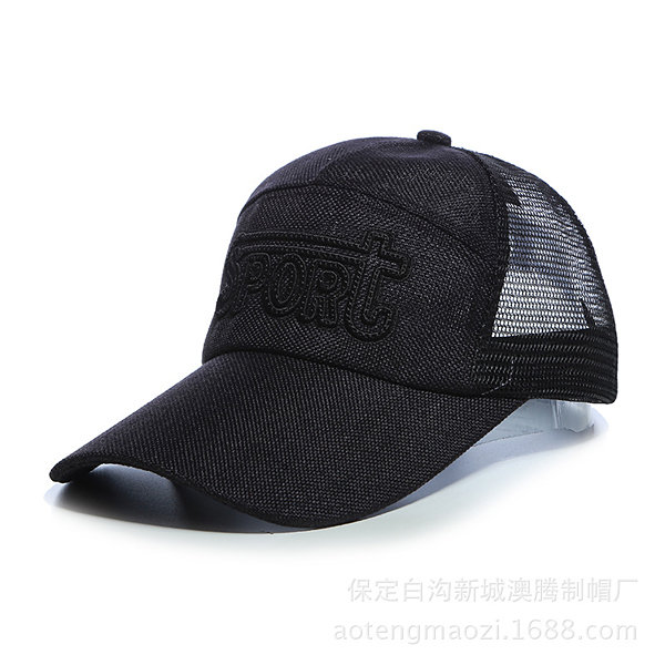 Men Outdoor Sports Sun Hat Breathable Golf Mesh Baseball Cap