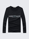 Mens Fall Winter 5 Colors Base Tee Printing Round Neck Casual Long Sleeve T-shirts