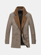Men's Fall Winter Woolen Warm Coat Unique Collar Long Medium Style Jacket