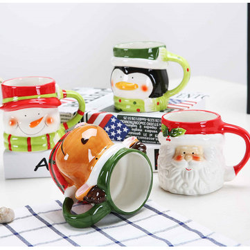 Creative Christmas Gift Ceramic Tea Mugs SKU793442