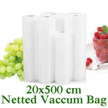 Thickened 20x500 Netted Food Vacuum Bag Food Vegetabel Fruit Meat Fresh Vacuum Sealing Bag