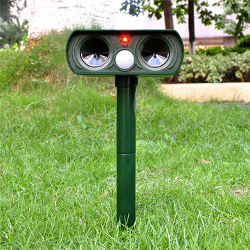 Ultrasonic Solar Power Animal Repeller Infrared Sensor Cat Dog Snake Rat Repeller Outdoor Garden