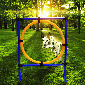 Dog Training Jump Hoop Exercise Equipment Pet Cat Outdoor Game Agility Obedience