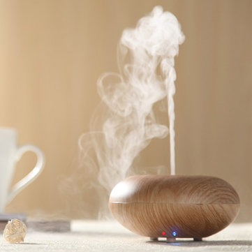 100-240V Ultrasonic Air Humidifier Wood Grain Diffuser Spray Mist Aromatherapy SKU712886