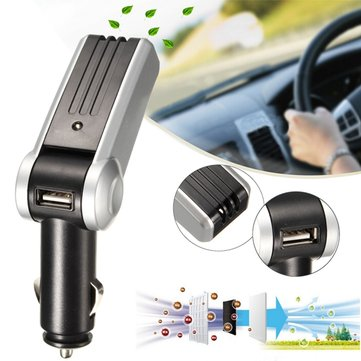 Auto Car Fresh Air Ionizer Oxygen Bar Ozone Purifier Fresher Clean USB Charger
