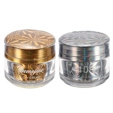 Demejine Day Night Cream Moisture Whitening Anti-wrinkle Refine Skin Tone Makeup Cosmetic SKU037367+SKU037366