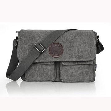 Men Retro Crossbody Shoulder Bag Canvas Shoulder Bag Messenger Korean Style Bag