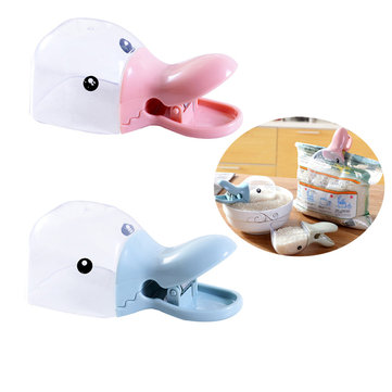 Multifunction Cute Duck Rice Shovel Spoon With Sealing Clip Kitchen Gadgets Wheat Food Spoon Bailer
