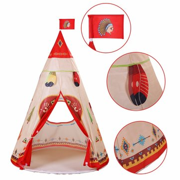 Children Indian Toy Teepee Safety Tent Portable Play House SKU532094
