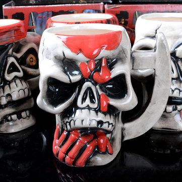Creative Skull Mug Pirate Ceramics Coffee Tea Cup Water Mugs SKU346923