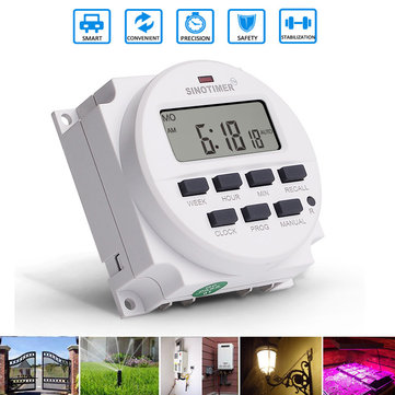 12V 24V 110V 220V Programmable Memory Plant Yard Lamp Timer Automatic Cycle Time Controller