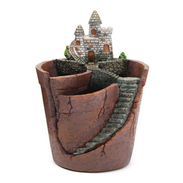 Sky Garden Potted Micro Landscape Meat Plant Pots Castle Resin Decoration