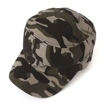 Mens Army Camouflage Military Soldier Hat Sport Cap Jungle Flat Hat