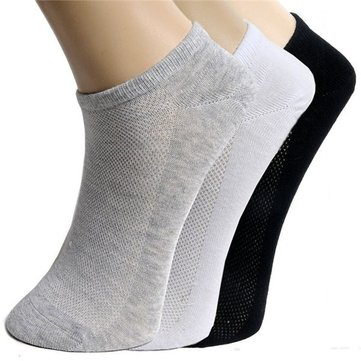 Unisex Ankle Crew Socks Casual Cotton Sport Short Socks Breathable Net Hole Design Socks