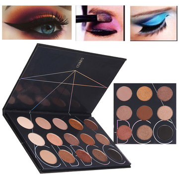 15 Colors Matte Shimmer Eyeshadow Makeup Cosmetic Eye Shadow Palette SKU578820