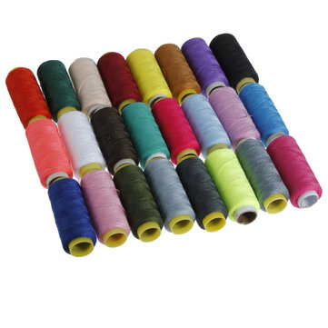 24 Colors 400 Yards Spools Sewing Quilting Embroidery Polyester Thread
