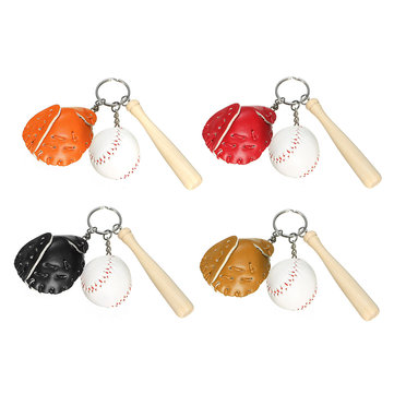 Mini Sport Keychain Baseball Bat Cap Key Ring Key Chain SKU469223