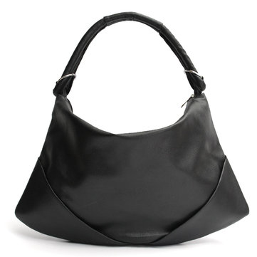 Women Elegant Black PU Leather Dumpling Bag Handbag Shoulder Bags