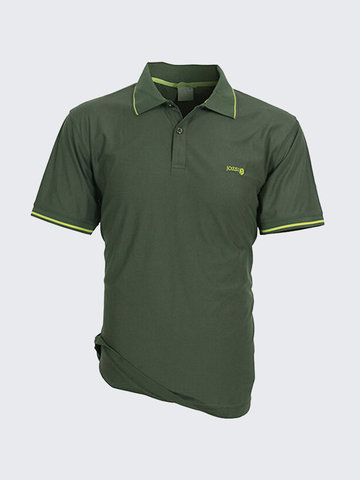 Buy Summer Mens Sport Breathable Quick Dry Turndown Collar Short Sleeved Polo shirts