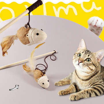 Billede af Funny Cat Teaser Pet Toys Kitten Interactive Toy Stick Wand Feather Play Games