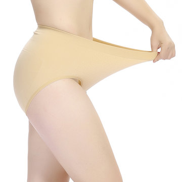 2xl-3xl Women Super Elastic Seamless Panties High Waist Body Shaping Underwear