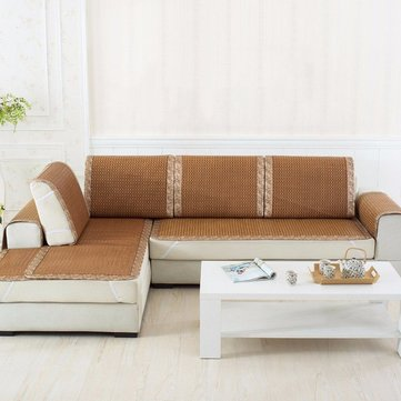 60*60cm Delicate Slipcover Sofa Pad Rattan Mat Sofa Couch Cover Furniture Protector