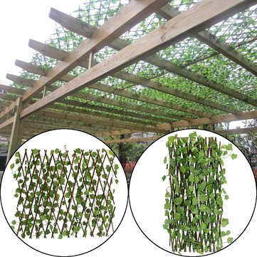 Artificial Green Leaf Branch Garden Buildings Branch Leaves Fence Home Restaurants Wall Decoration