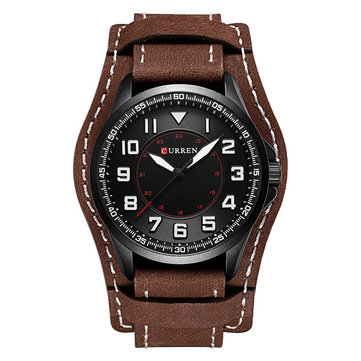 Casual PU Leather Men Watch