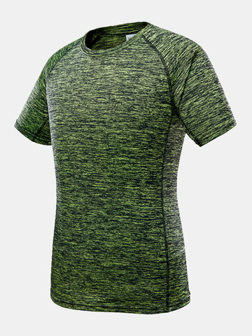 Mens Quick-drying Breathable O-neck Short Sleeve Casual Sport T-shirt