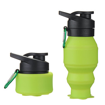 550ml Creative Silicone Collapsible Telescopic Water Kettle Portable Outdoor Travel Water Cup SKU696480