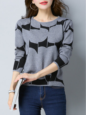 Autumn Casual Knitted Sweaters SKU746896