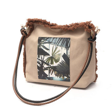 Canvas Casual Large Capacity Shoulder Bag Crossbody Bags For Women
