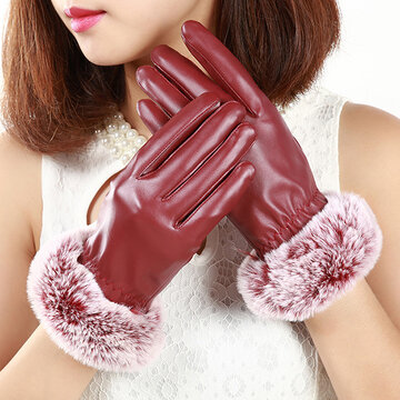 Women Soft Warm Full Fingers Touch Screen Gloves SKU827914