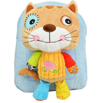 Girl Boy Lovely 3D Animal Backpack Kids Cartoon Plush Shoulder Bag Snap Package SKU335807