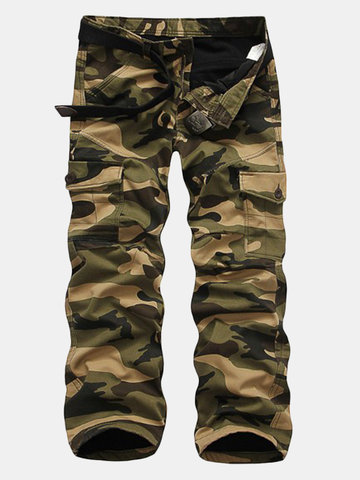 Men's Winter Fashion Thick Warm Cargo Pants Outdoor Camouflage Multi-pocket Overalls от Newchic.com INT