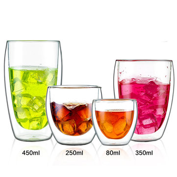 Double-layer Transparent Glass Cup SKU795535