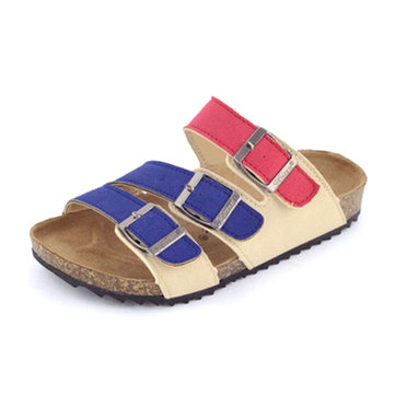 Velvet Embroidered Slide - Medium Width