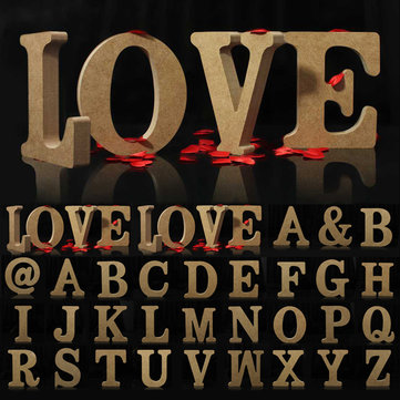 Wooden Free Standing Word Letter Alphabet Name Wedding Party Home Decor