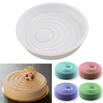 1PCS Silicone Non-Stick Vague Circular Corrugated Shaped Cake Mold For Desserts
