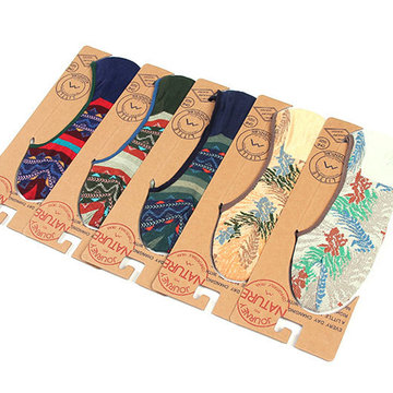 Buy Summer Vintage Chinese Style Casual Cotton Silicone Anti-Slip Thin Boat Socks Men
