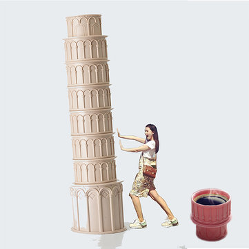 Italian Attractions Pizza Leaning Tower Stacked Cups Coffee Set Cups Home Decoration Gift Cups SKU731357