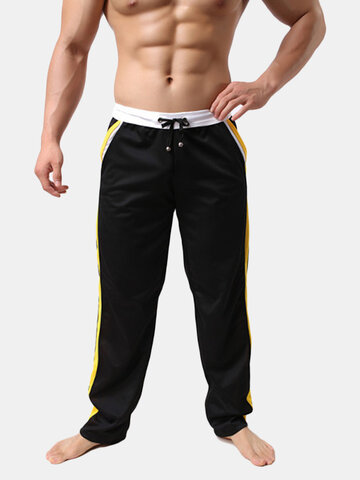 Mens Home Trousers  Casual Running Drawstring Sports Cotton Pants