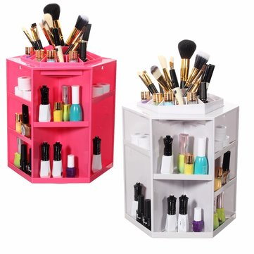 360 ºRotating Makeup Case Lipstick BB Cream Cosmetic Organizer Box