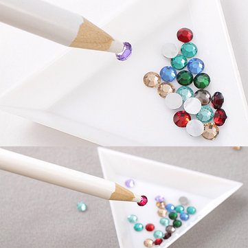 White Rhinestones Picker Pencil Nail Art Tool Wax Pen Gem Crystal от Newchic.com INT