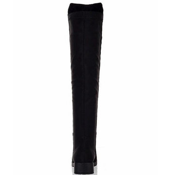 Flat Thigh High Over Knee Suede Stretch Warm Snow Boots от Newchic.com INT