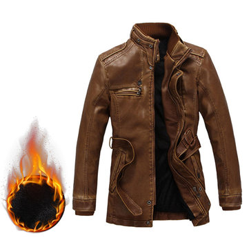 Motorcycle Biker PU Leather Jackets SKU754458