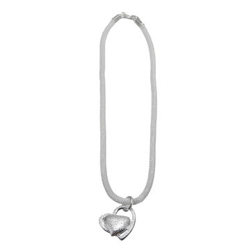 925 Sterling Silver Double Heart Pendants Necklace